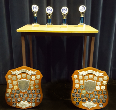 Voice of Youth shield and trophies